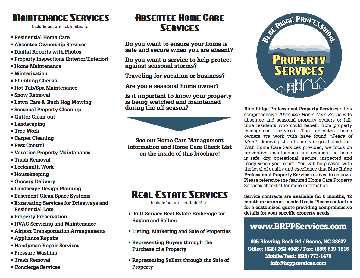 Sample Home Care Check List · Sample Home Care Contract · Home Care Brochure